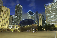 Chicago Skyline at night Royalty Free Stock Photography