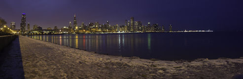 Chicago Skyline by Night Royalty Free Stock Photography