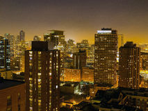 Chicago Skyline at Night, USA Royalty Free Stock Images