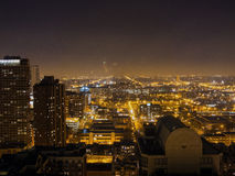 Chicago Skyline at Night, USA Royalty Free Stock Photography