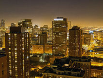 Chicago Skyline at Night, USA Stock Images