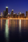 Chicago skyline from the North. Chicago skyline from north, at dusk Royalty Free Stock Images