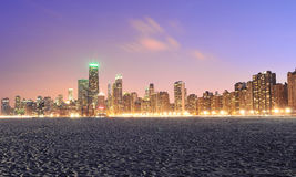 Chicago Skyline and North Avenue Beach Stock Photography