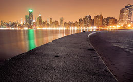 Chicago Skyline and North Avenue Dock Stock Photography