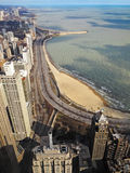 Chicago skyline, north part of the city. Royalty Free Stock Image