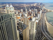Chicago skyline, north part of the city. Royalty Free Stock Images