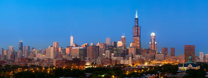 Chicago skyline panorama. Royalty Free Stock Image