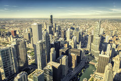 Chicago skyline panorama aerial view Stock Image