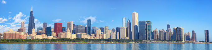 Chicago skyline panorama Royalty Free Stock Photo