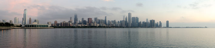 Chicago skyline (panoramic) Royalty Free Stock Photos