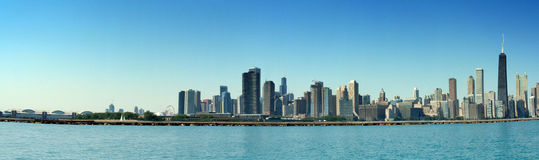 Chicago Skyline Panoramic Stock Photography