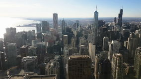Chicago skyline panoramic day view from Willis Tower stock video
