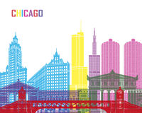 Chicago skyline pop Royalty Free Stock Images