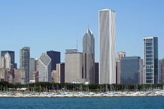 Chicago Skyline with Prudential Plaza Stock Photography