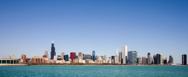 Chicago Skyline - seen from Lake Michigan Royalty Free Stock Photos