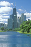 Chicago Skyline Seen from Lincoln Park Stock Photography
