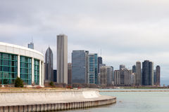 Chicago Skyline and Shedd Aquarium Royalty Free Stock Photo