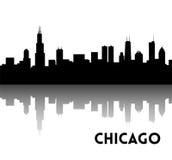 Chicago skyline silhouette Stock Image