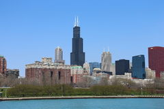 Chicago skyline in summer Royalty Free Stock Photography