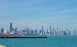 Chicago skyline on a sunny day Stock Photo