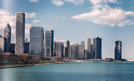 Chicago skyline in sunny spring day Stock Photography
