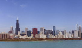 Chicago skyline in sunny spring day Royalty Free Stock Photo