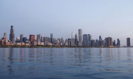 Chicago skyline at sunrise Royalty Free Stock Photo