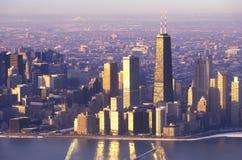 The Chicago Skyline at Sunrise, Chicago, Illinois Royalty Free Stock Image