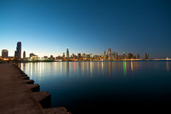 Chicago Skyline at sunset. Lakeview at the Chicago Skyline during sunset Stock Image
