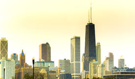 Chicago Skyline at Sunset royalty free stock images