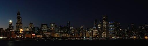 Chicago Skyline at Sunset Stock Photos