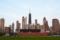 Chicago skyline sunset view Royalty Free Stock Image