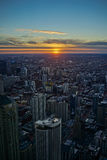 Chicago Skyline Sunset. In Winter Stock Photography