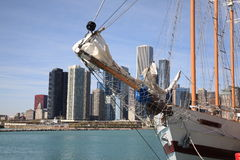 Chicago Skyline and Tall Ship Royalty Free Stock Photos