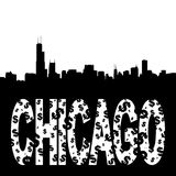 Chicago skyline with text Royalty Free Stock Photography