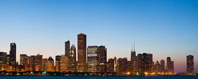 Chicago skyline at twilight. Stock Photography