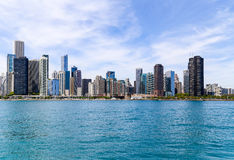 Chicago Skyline. Chicago, USA - May 24, 2014: The Chicago skyline seen from Lake Michigan Royalty Free Stock Images