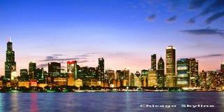 Chicago Skyline. Very interesting view Stock Photo