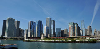 Chicago Skyline. View of Chicago Skyline from the Lake Michigan on a clear day Royalty Free Stock Photo