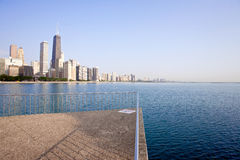 Chicago skyline. View from Milton Lee Olive Park, Chicago Royalty Free Stock Photo