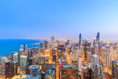 Chicago skyline view over Lake Michigan. Royalty Free Stock Photography
