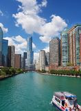 Chicago skyline view Royalty Free Stock Photos