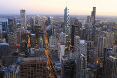 Chicago skyline view at twilight Royalty Free Stock Images