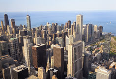 Chicago skyline. Viewed fron Willis Tower, USA stock photo