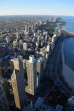 Chicago skyline viewed from Willis Tower. Stock Photos