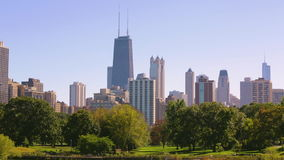 Chicago skyline in the summer stock footage
