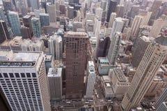 Chicago-Skyline vom Hancock-Kontrollturm lizenzfreie stockfotografie