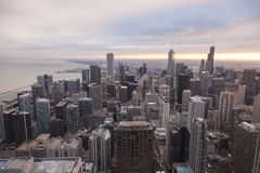 Chicago-Skyline vom Hancock-Kontrollturm lizenzfreie stockbilder