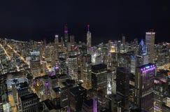 Chicago-Skyline von den Brandwunden stockbild