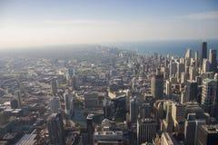 Chicago-Skyline von oben stockfotos